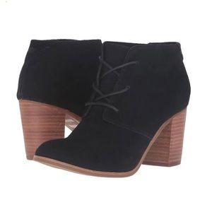 Toms Shoes - Toms Lunata Black Suede Lace Up Bootie